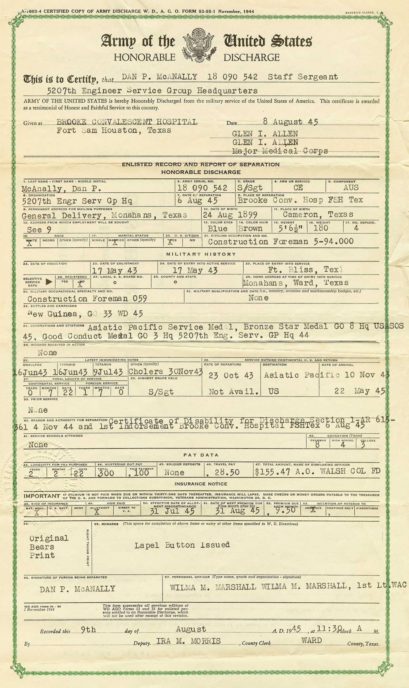 army discharge papers Military discharges: what's in a name the type of discharge a veteran receives will be listed on his or her dd-214 military discharge paperwork.