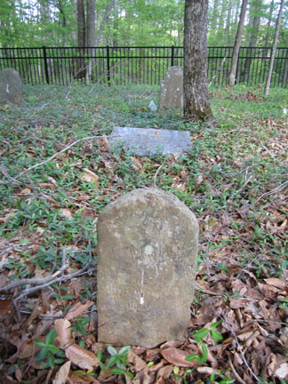 Captain Charles McAnally's Headstone & Marker