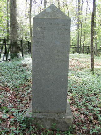 Back of Charles Wesley McAnally's Gravestone